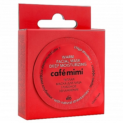 """Warm Face Mask with Natural Strawberries """"Deep Hydration"""" - Café Mimi"""