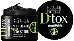 Fragrances, Perfumes, Cosmetics Body Scrub - Revuele Pure Black Detox Volcanic Body Scrub