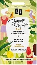 Fragrances, Perfumes, Cosmetics 2-in-1 Enzyme Peeling + Papaya & Pineapple Cream Mask - AA Voyage Voyage 2 In 1