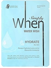 Fragrances, Perfumes, Cosmetics Dry Skin Moisturizing Face Sheet Mask - When Simply Water Wish