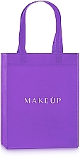 "Fragrances, Perfumes, Cosmetics Shopping Bag, purple ""Springfield"" - MakeUp Eco Friendly Tote Bag"