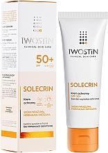 Fragrances, Perfumes, Cosmetics Sun Cream - Iwostin Solecrin Protective Cream SPF 50+