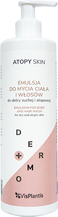 Soothing Hair and Body Wash Emulsion - Vis Plantis Atopy Skin Emulsion For Body And Hair Wash