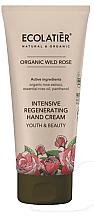 "Fragrances, Perfumes, Cosmetics Hand Cream ""Youth and Beauty' - Ecolatier Organic Wild Rose Intensive Regenerating Hand Cream"