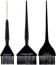 Fragrances, Perfumes, Cosmetics Coloring Brush Set, black - Framar 3 Piece Color Brush Set