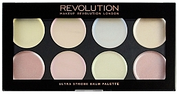 Fragrances, Perfumes, Cosmetics Cream Highlighter Palette - Makeup Revolution Ultra Strobe Balm Palette
