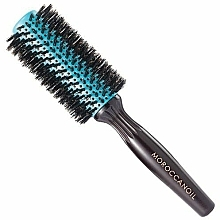 Fragrances, Perfumes, Cosmetics Round Wooden Brush with Natural Bristles, 35 mm - Moroccanoil