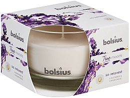 """Fragrances, Perfumes, Cosmetics Scented Candle in Glass """"Lavender and Chamomile"""", 63/90 mm - Bolsius True Moods Candle"""