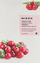 Fragrances, Perfumes, Cosmetics Acerolla Extract Face Sheet Mask - Mizon Joyful Time Essence Mask Acerola