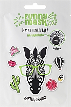 """Fragrances, Perfumes, Cosmetics Toning Sheet Mask """"Zebra"""" - Marion Funny Mask"""