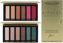 Fragrances, Perfumes, Cosmetics Set - Makeup Revolution Kitulec #BlendKitulca Shadow Palette (2xsh/palette/7.8g)