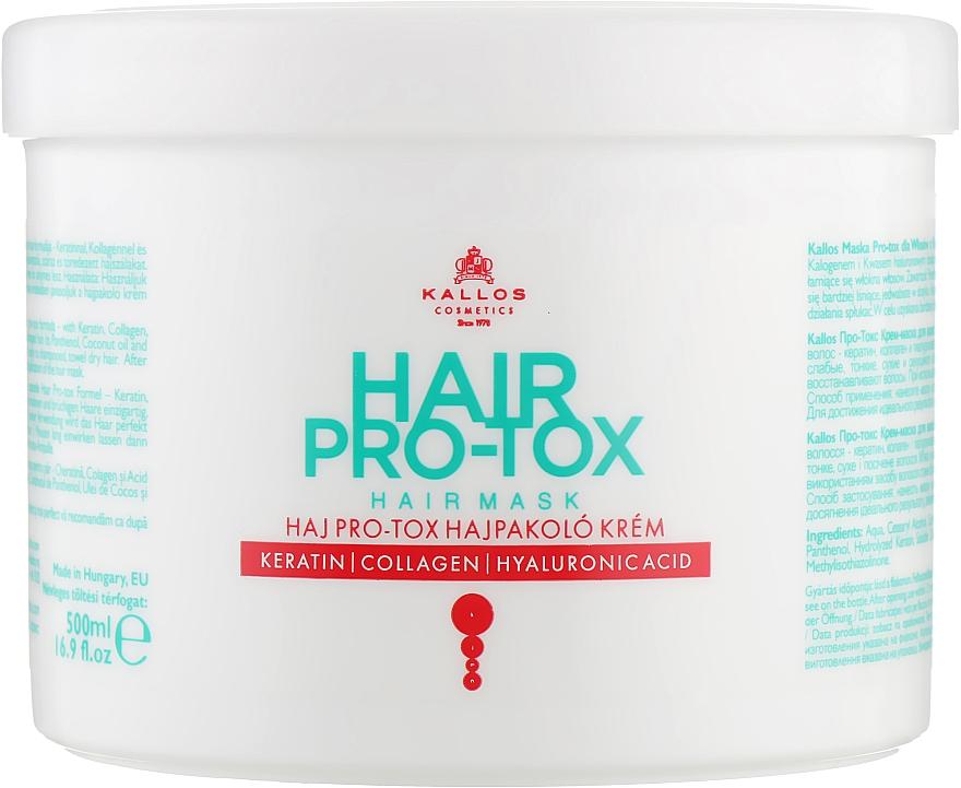 Keratin, Collagen & Hyaluronic Acid Hair Mask - Kallos Cosmetics Pro-Tox Hair Mask — photo N3
