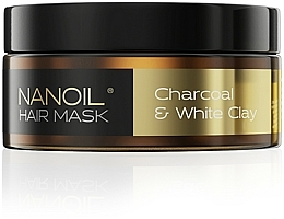 Fragrances, Perfumes, Cosmetics Charcoal & White Clay Hair Mask - Nanoil Charkoal & White Clay Hair Mask