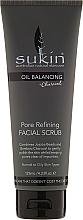 Fragrances, Perfumes, Cosmetics Face Scrub - Sukin Oil Balancing Plus Charcoal Pore Refining Facial Scrub