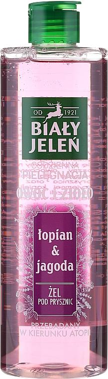 """Shower Gel """"Blueberries and Burdock"""" - Bialy Jelen"""