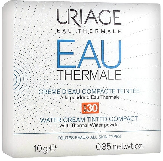Compact Cream Powder - Uriage Eau Thermale Water Tinted Cream Compact SPF30