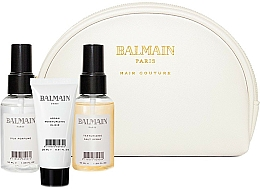 Fragrances, Perfumes, Cosmetics Set - Balmain Paris Hair Couture White Cosmetic Styling Bag (h/parfum/20ml + elixir/50ml + styling/spray/50ml + bag)