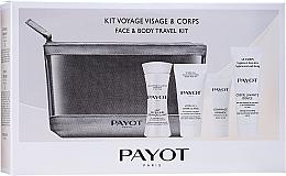 Fragrances, Perfumes, Cosmetics Set - Payot Face & Body Travel Kit (micel/milk/30ml + cr/15ml + b/scr/8ml + face/foam + bag)