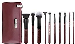 Fragrances, Perfumes, Cosmetics Makeup Brush Set with Makeup Bag, T259+CB004, 10 pcs - Jessup