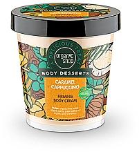 "Fragrances, Perfumes, Cosmetics Lifting Body Cream ""Caramel Cappuccino"" - Organic Shop Body Desserts Caramel Cappuccino"