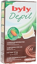 """Fragrances, Perfumes, Cosmetics Face Depilation Wax Strips """"Chocolate"""" - Byly Depil Chocolate Hair Removal Strips Face"""