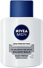 """Fragrances, Perfumes, Cosmetics Antibacterial After Shave Balm """"Silver Protection"""" - Nivea For Men Silver Protect After Shave Balm"""