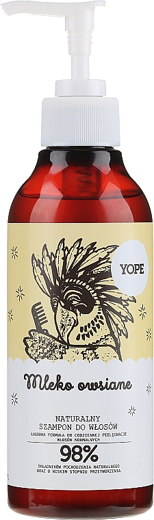 Natural Oat Milk Shampoo for Normal Hair - Yope