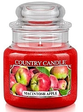 Fragrances, Perfumes, Cosmetics Scented Candle in Jar - Country Candle Macintosh Apple
