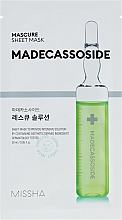 Fragrances, Perfumes, Cosmetics Madecassoside Face Mask - Missha Mascure Rescue Solution Sheet Mask Madecassoside