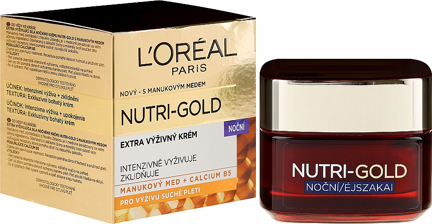 Facial Night Care - L'Oreal Paris Dermo-Expertise Nutri Gold — photo N1