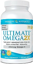 """Fragrances, Perfumes, Cosmetics Dietary Supplement with Lemon Taste """"Omega 2X"""", 2150mg - Nordic Naturals Omega 2X"""