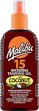 Fragrances, Perfumes, Cosmetics Bronzing Tanning Body Oil - Malibu Bronzing Tanning Oil With Coconut SPF 15