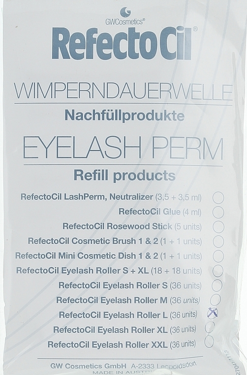 Lash Perm (L) - RefectoCil Eyelash Perm — photo N1