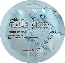 "Fragrances, Perfumes, Cosmetics Face Mask ""Blue Clay & Tea Tree"" - Cafe Mimi Blue Clay Face Mask"