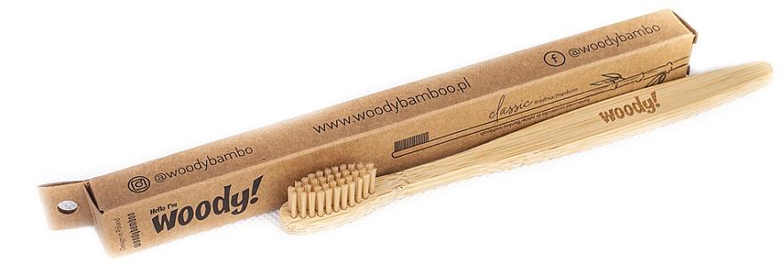 """Bamboo Toothbrush """"Classic"""", medium - WoodyBamboo Bamboo Toothbrush Classic"""