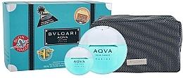 Fragrances, Perfumes, Cosmetics Bvlgari Aqva Pour Homme Marine - Set (edt/100ml + edt/mini/15ml + bag)
