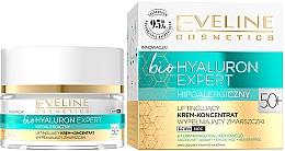 Fragrances, Perfumes, Cosmetics Ultra-Moisturizing Day & Night Cream-Concentrate - Eveline Cosmetics BioHyaluron Expert 50+