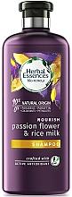 Fragrances, Perfumes, Cosmetics Moisturizing Shampoo for Dry & Damaged Hair - Herbal Essences Passion Flower & Rice Milk Shampoo