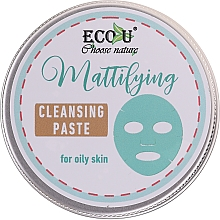 Fragrances, Perfumes, Cosmetics Cleansing Face Paste - ECO U Mattifying Cleansing Paste For Oily Skin