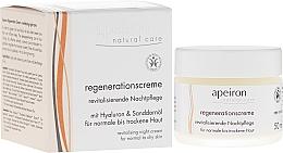Fragrances, Perfumes, Cosmetics Regenerating Night Cream for Normal & Dry Skin - Apeiron Night Regeneration Cream