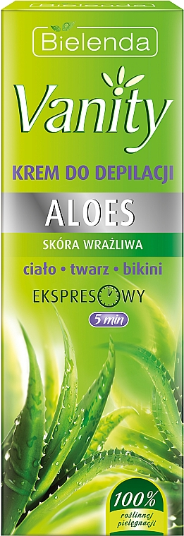 Aloe Depilatory Cream - Bielenda Vanity