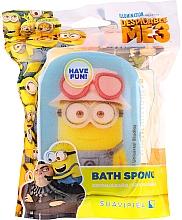 "Fragrances, Perfumes, Cosmetics Kids Bath Sponge ""Minnioins"", yellow-dark blue - Suavipiel Minnioins Bath Sponge"