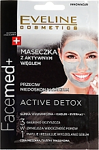 Fragrances, Perfumes, Cosmetics Activated Charcoal Face Mask - Eveline Cosmetics Facemed+