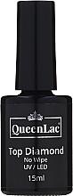 Fragrances, Perfumes, Cosmetics No Wipe Gel Polish Top Coat - QueenLac Top Diamond No Wipe UV/LED