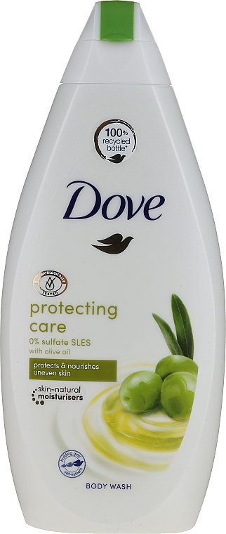 Olive Shower Gel - Dove Protect Care Body Wash