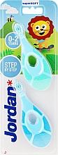 Fragrances, Perfumes, Cosmetics Baby Toothbrush, 0-2 yrs, dark blue+blue - Jordan Step By Step Soft & Gentle