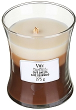 Fragrances, Perfumes, Cosmetics Scented Candle in Glass - WoodWick Hourglass Trilogy Café Sweets