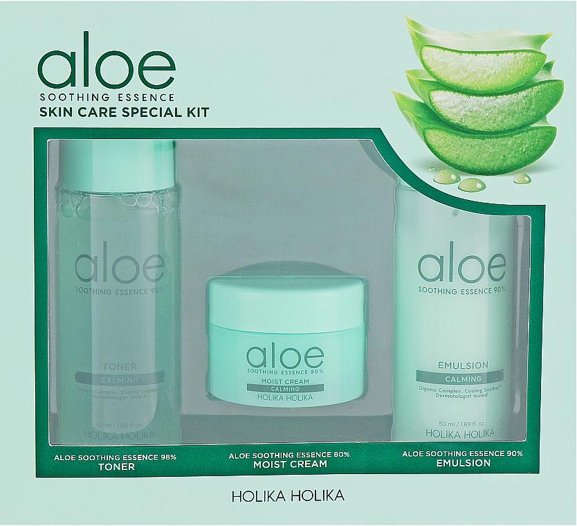 Set - Holika Holika Aloe (toner/50ml + emulsion/50ml + cr/20ml)