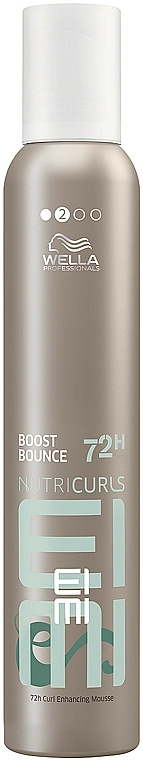 Modeling Curly Hair Mousse Spray - Wella Professionals Eimi Nutricurls Boost Bounce Mousse Curly 72H