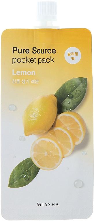 Lemon Night Mask - Missha Pure Source Pocket Pack Lemon